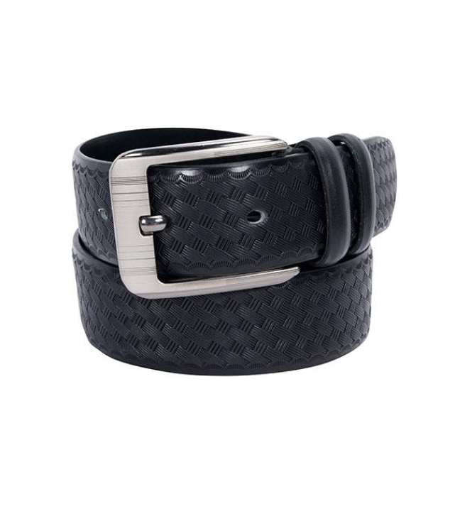 Black Leather Formal Belt For Men