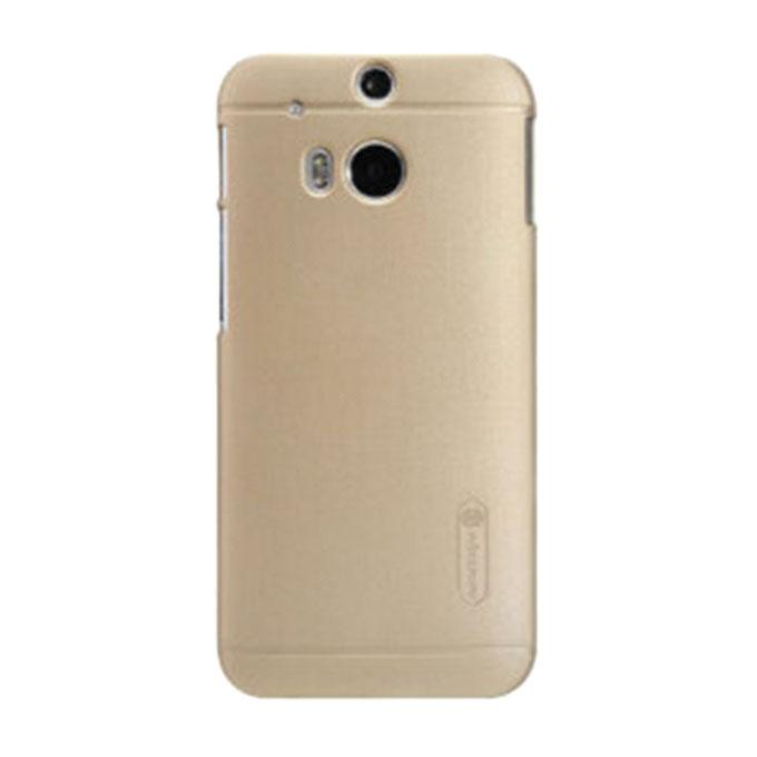 Super Frosted Shield Back Cover for HTC New One(M8) - Golden