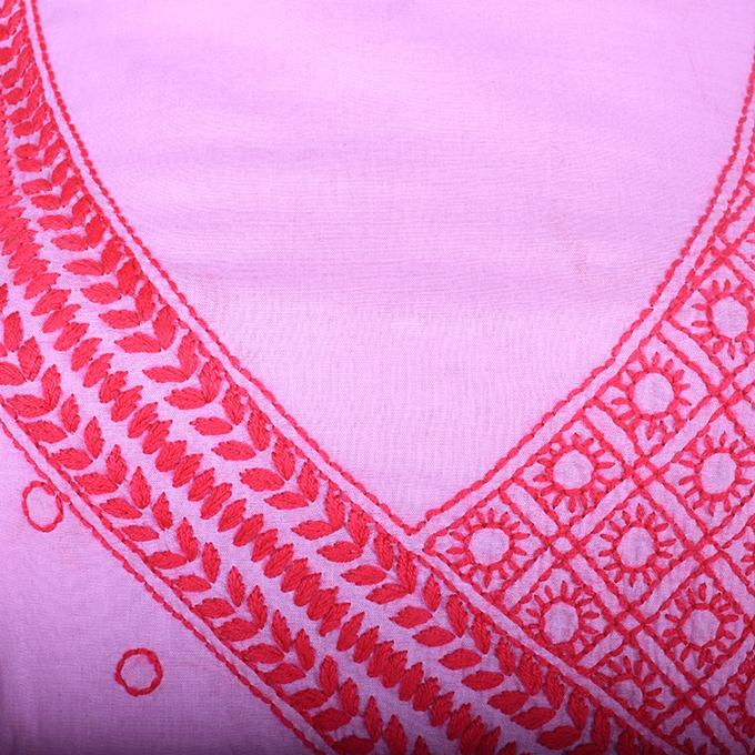 Pink Unstitched 1 Pc For Women