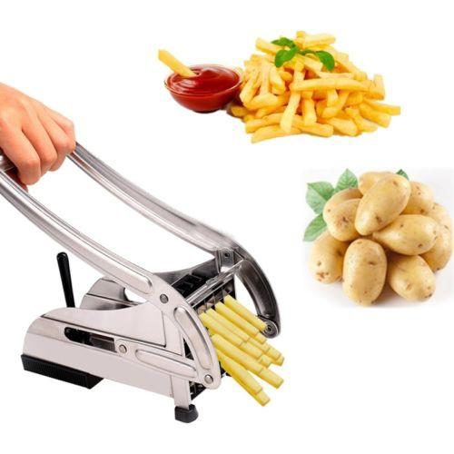 Stainless Steel French Fry Cutter - Silver