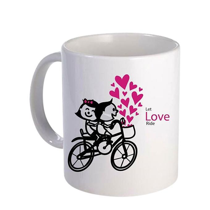 Love Ride Ceramic  Mug - White