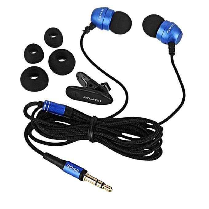 ES - Q8 3.5MM Stereo Music Earphones – Blue