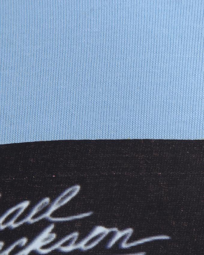 Cotton Casual T-Shirt For Men - Dodgerblue