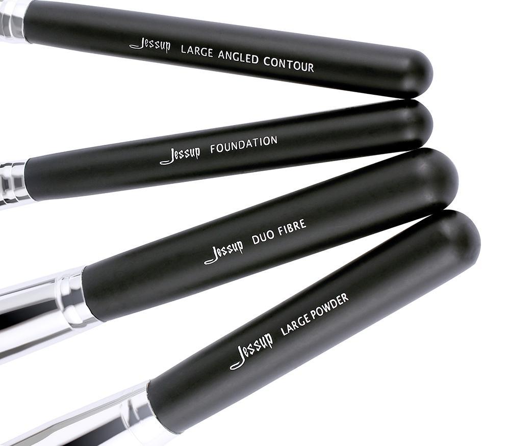 T066 12 PCs Essential Series Brush Set - Black and White