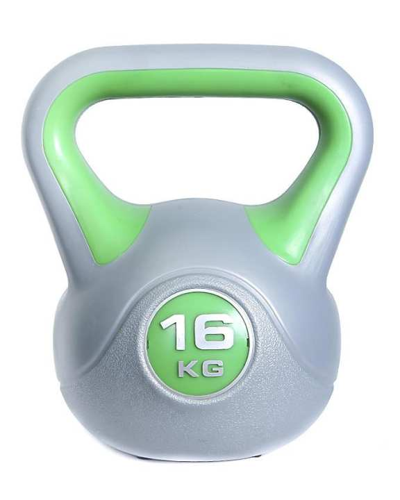 Kettle Bell - 16Kg - Silver and Green