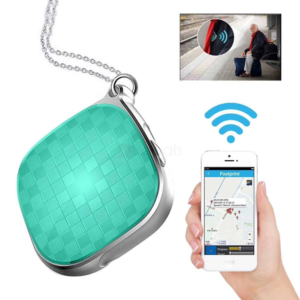 Mini Micro Gps Tracker Locator A9 for Kids Children Tracking Device Gps +  Lbs + Wifi 5 Days Standby Sos Alarm Voice Monitoring - Blue