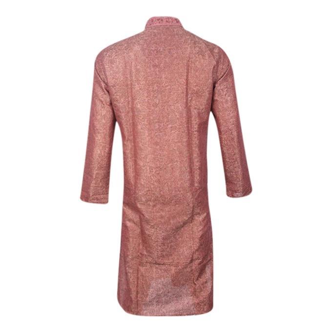 Red Pink Cotton Panjabi For Men