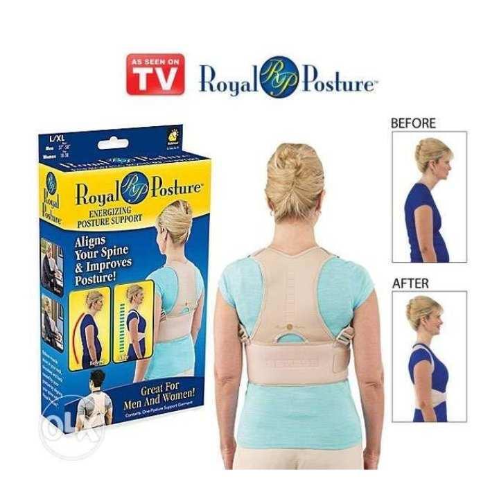 Royal Posture Back Support Belt - Grey