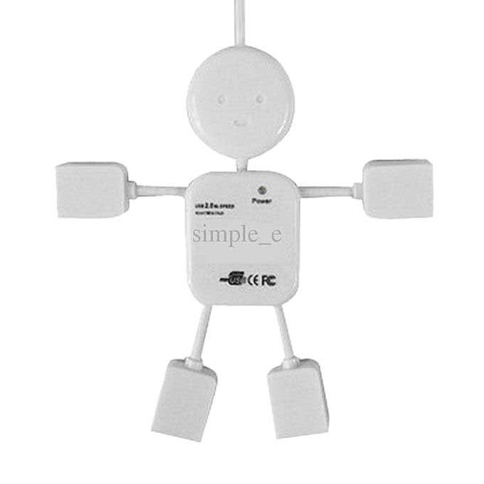 4 Port USB Hub - Black
