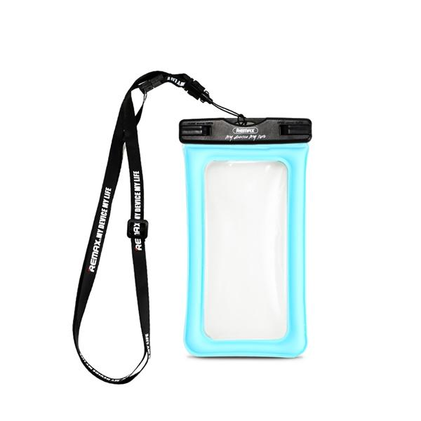 Waterproof Touch Screen Airbag Phone Case 5 inch - Blue