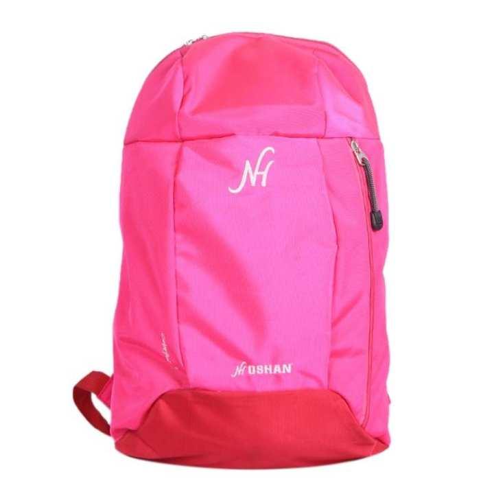 Pink Polystar Backpack For Women