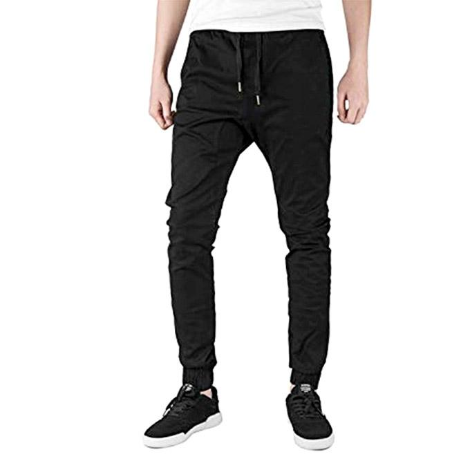 3e02504fd39e57 Black Twill Jogger Pant for Men: Buy Sell Online @ Best Prices in  Bangladesh   Daraz.com.bd