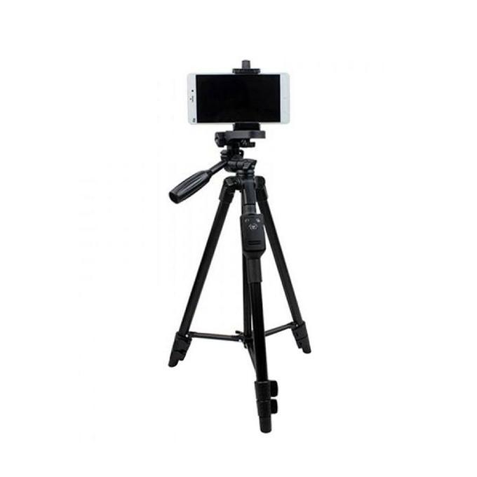 Vct-5208 Bluetooth Tripod Professional Camera Stand - Black