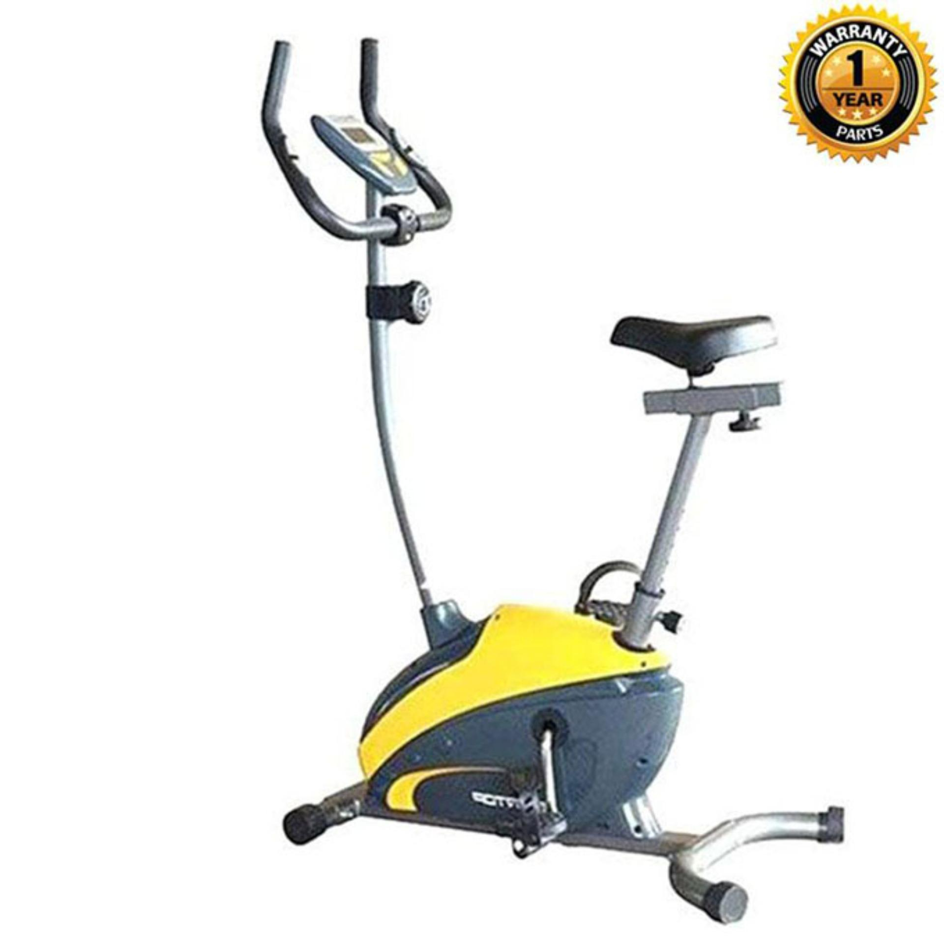 EFIT 352B Magnetic Exercise Bike - 18.1Kg – Yellow & Navy Blue