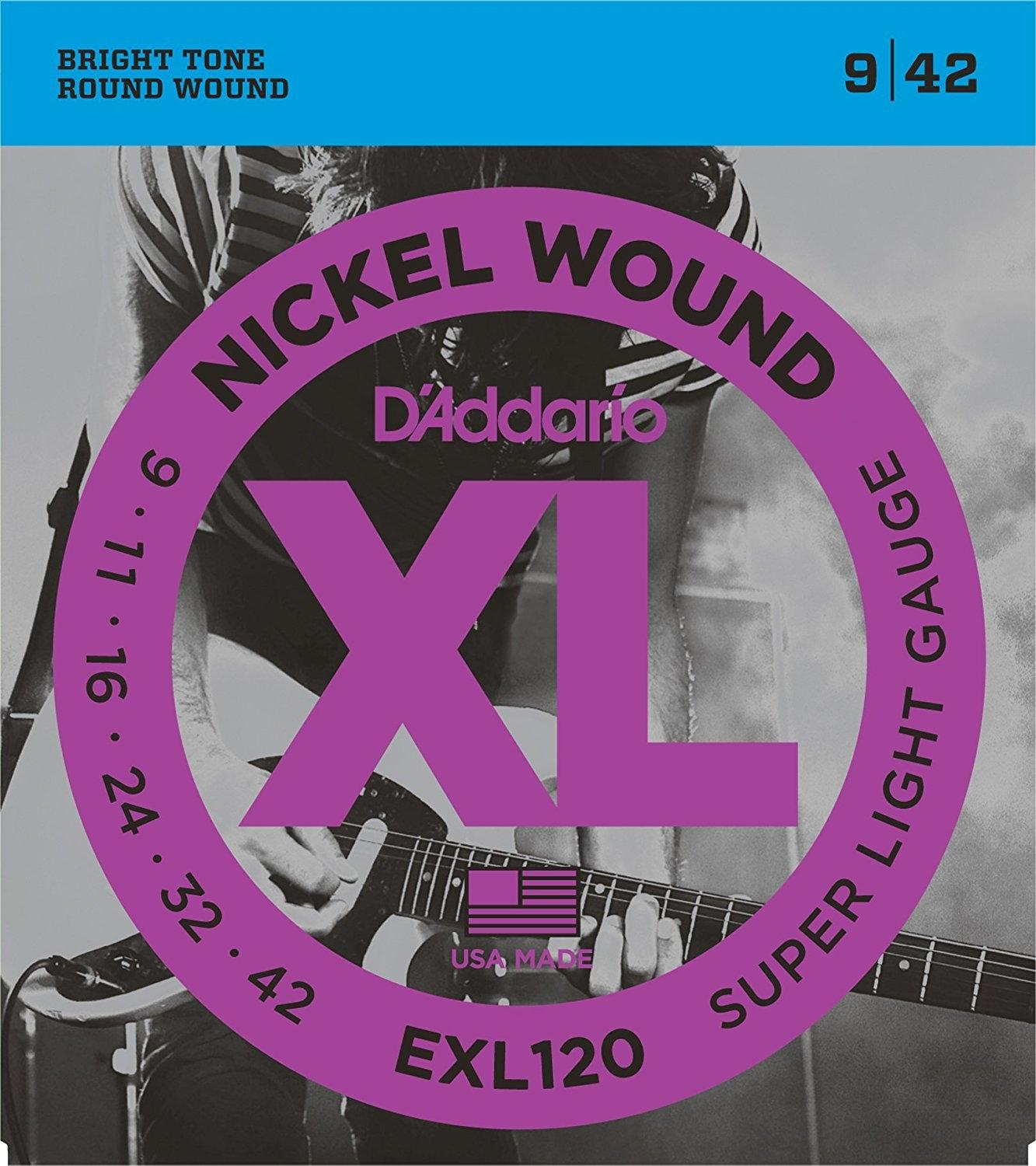 EXL120 Nickel Wound Electric Guitar Strings - Silver