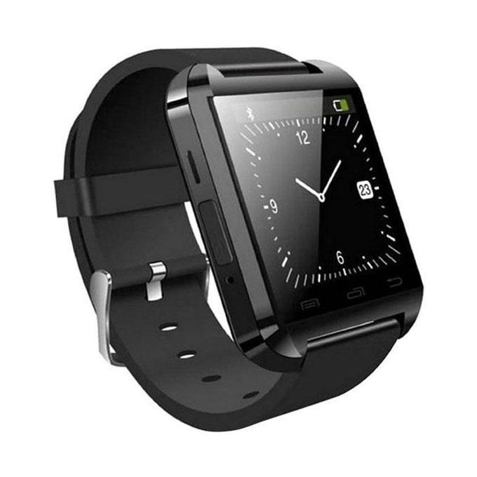 Q2B Bluetooth Smartwatch With Selfie Stick - Black
