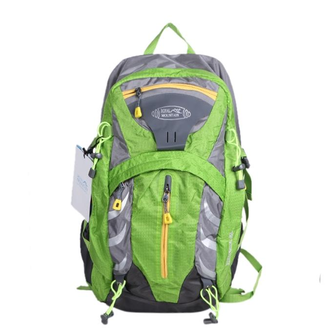 Green Polystar Backpack For Men