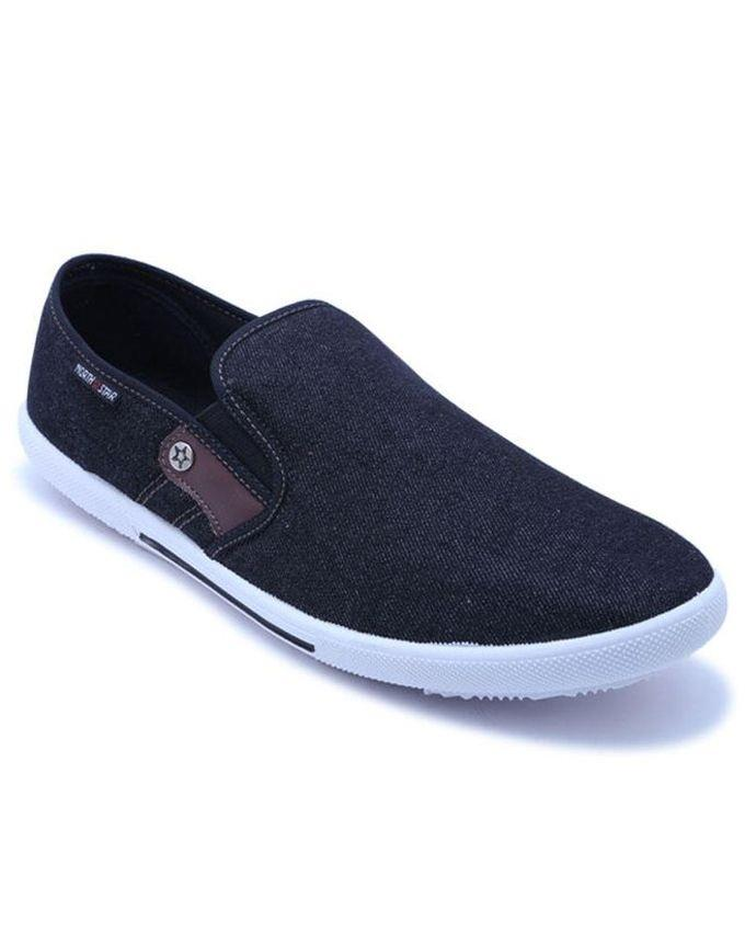 7d57cfb98 North Star PU Flat Casual Lifestyle Canvas Shoes - Black