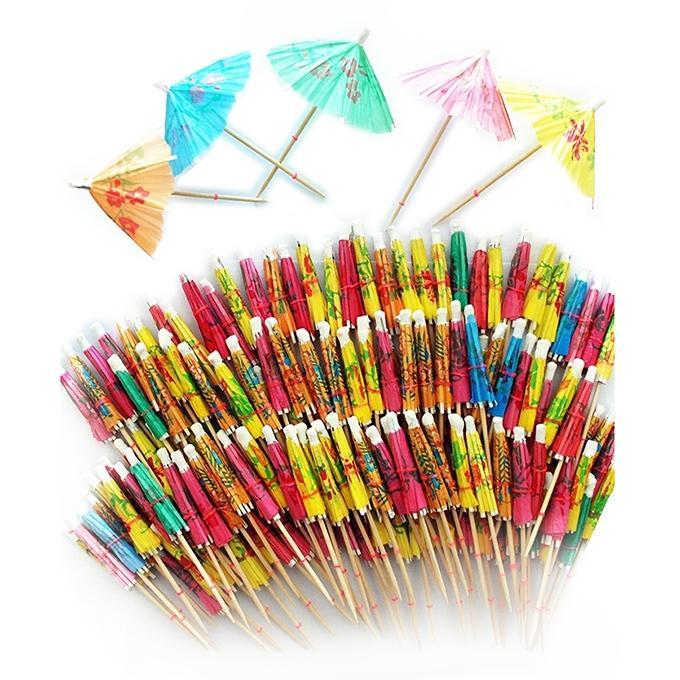 Drink Umbrellas Assorted 144ct - Multi-color