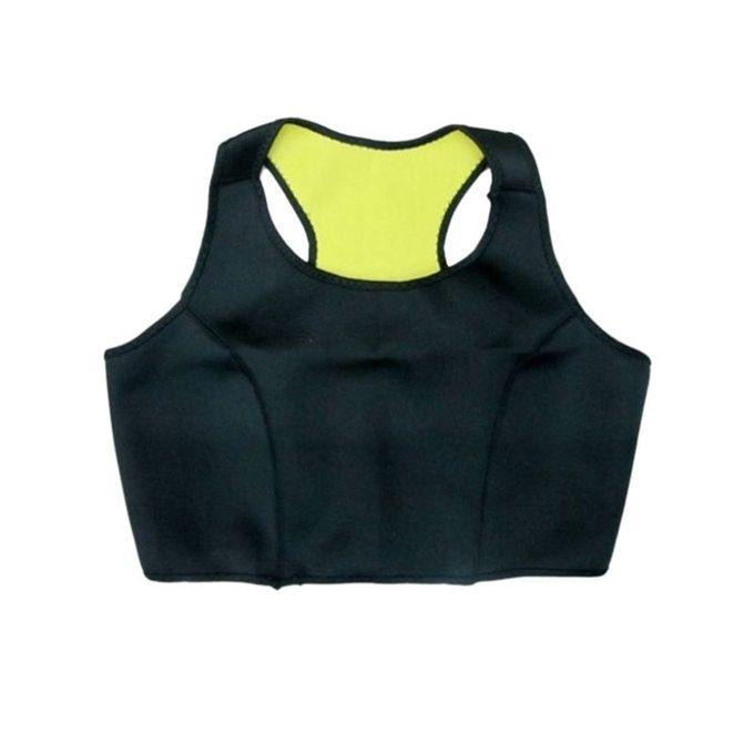 Hot Shapers Set Bra and Pant Combo Offer - Black and Yellow