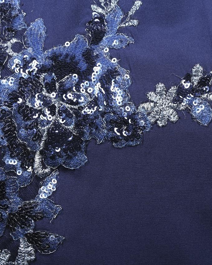Blue Synthetic Long Sleeve Zarzain Kurti For Women