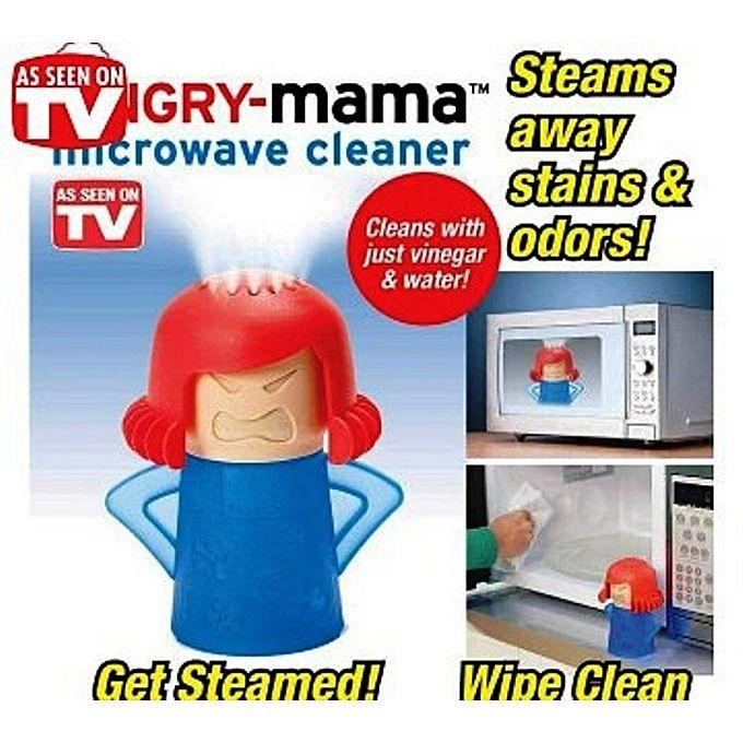 Angry-Mama Microwave Oven Steam Cleaner - Blue And Red