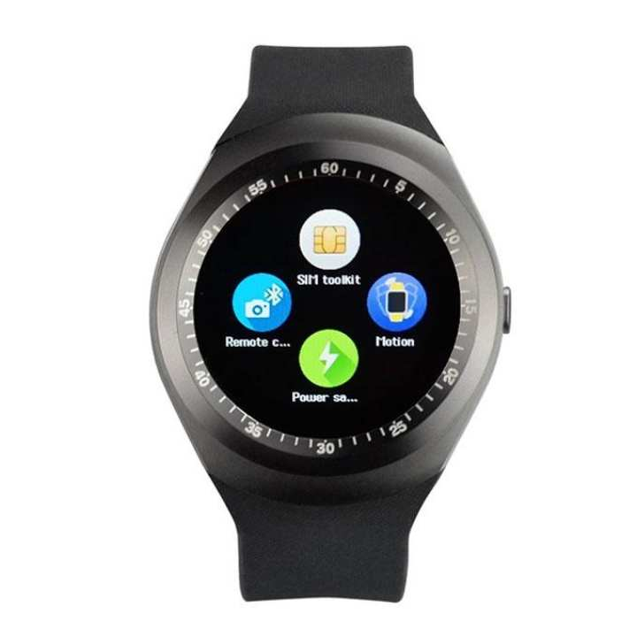 Sim Supported Mobile Smart Watch Y1 - Black
