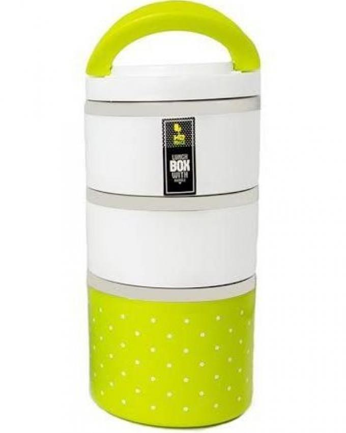 Homio Lunch Box - White and Green