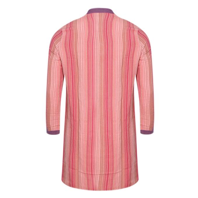 Coral Cotton Casual Panjabi For Men