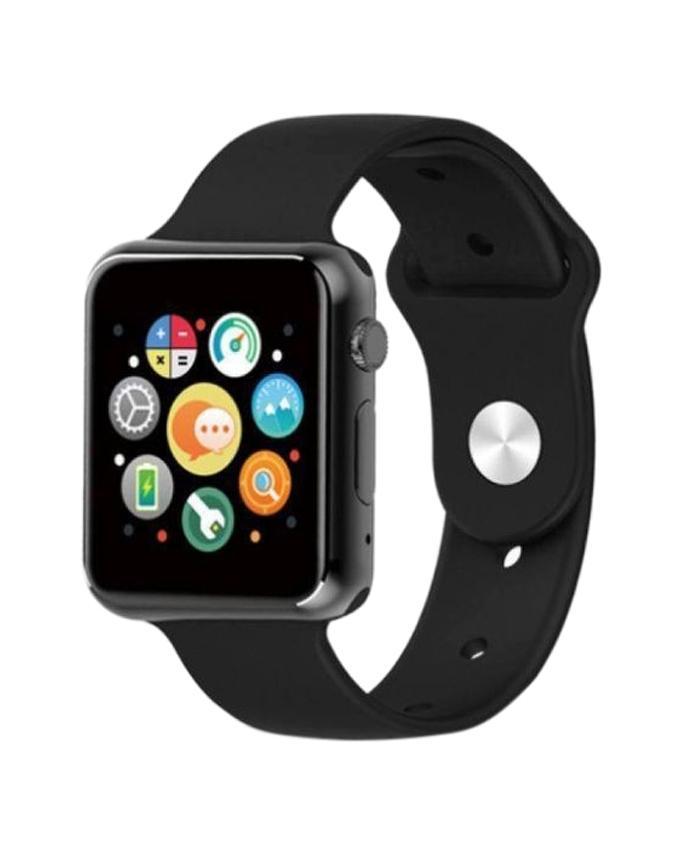 Sim Supported Bluetooth Smartwatch - Black
