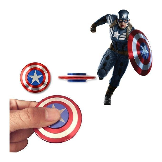 Captain America Shield Round Fidget Spinner – Multicolor