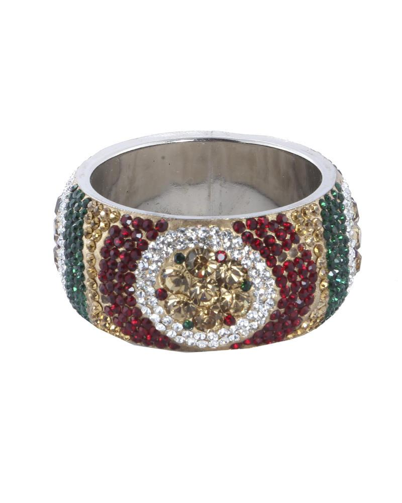 Golden Body Stone  Bangles - Multi Color
