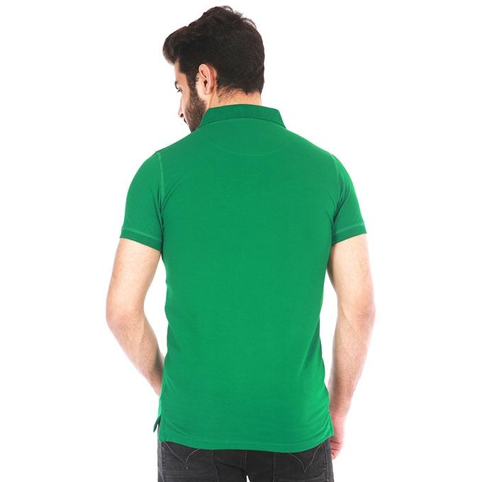 Green Cotton Polo For Men