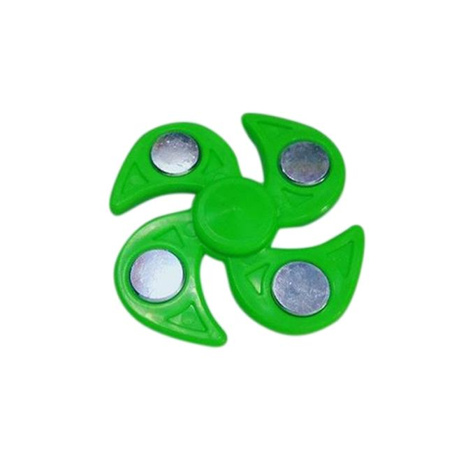 Tri-Spinner Fidget Hand Finger Spinner Stress Reducer Toy – Multicolor