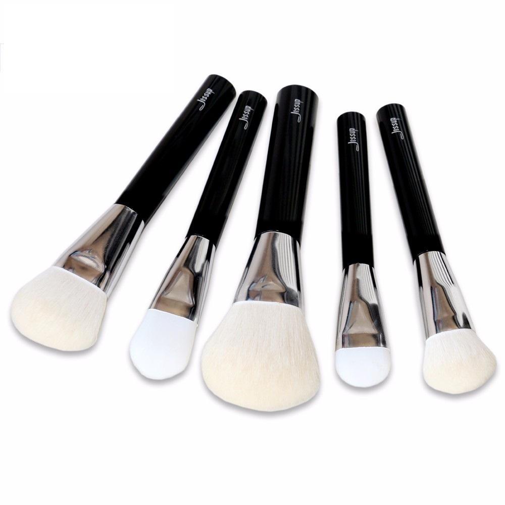 T112 5 PCs Acrylic Series Brush Set - Black and Silver