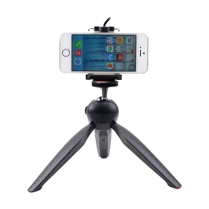 Mini Tripod with Phone Holder Clip for Smartphone - Black