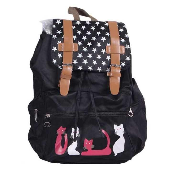 Polyester Backpack For Girls - Black