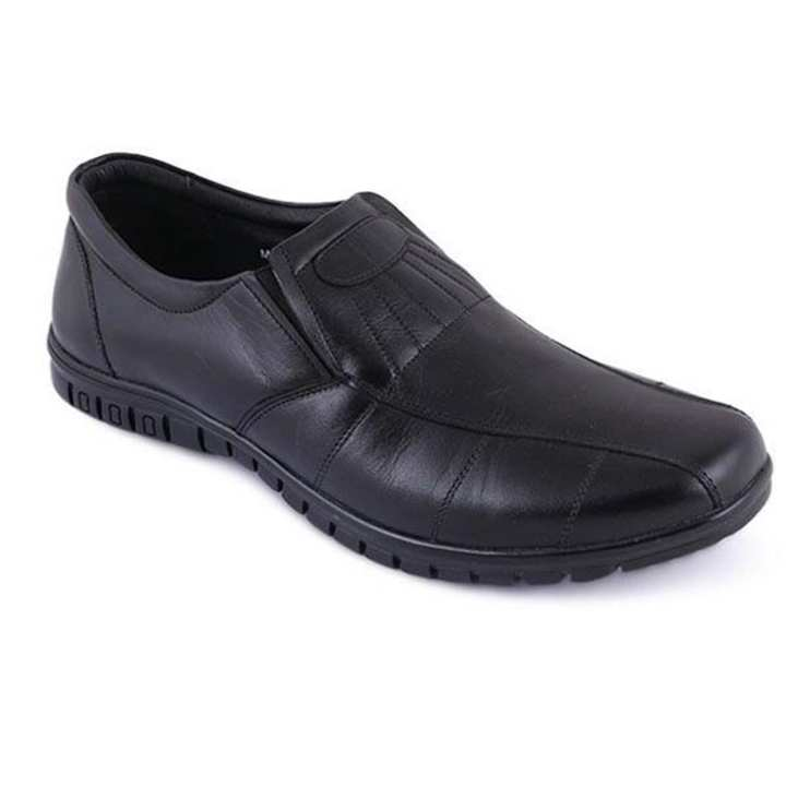 Black Leather Casual Casual Shoe For Men