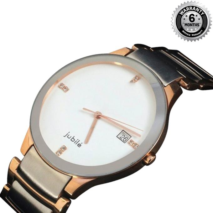 WRM51 - Stainless Steel Analog Watch For Men - Golden
