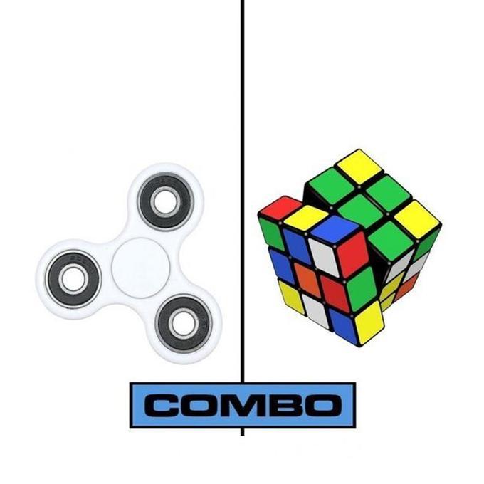 Fidget Spinner Stress Reduce Toy – White Combo