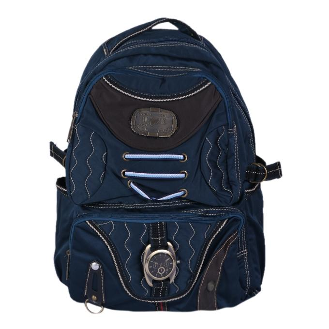 Polyester Backpack - Navy Blue
