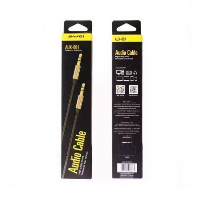 AUX-001 Male to Male Cable 3.5mm - Black