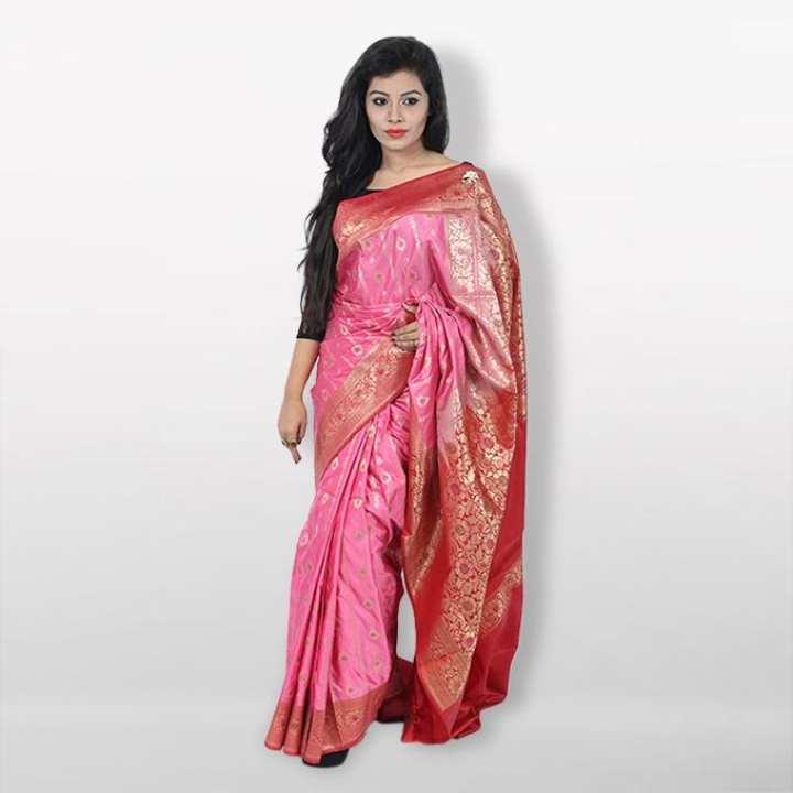 Multicolor Reshmi Silk Mina Katan  For Women