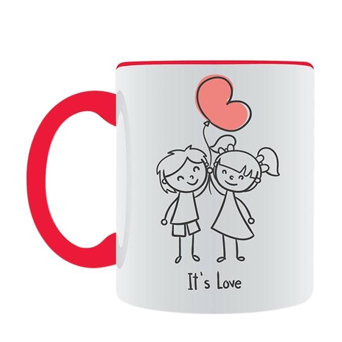 Its Love Ceramic Mug - White