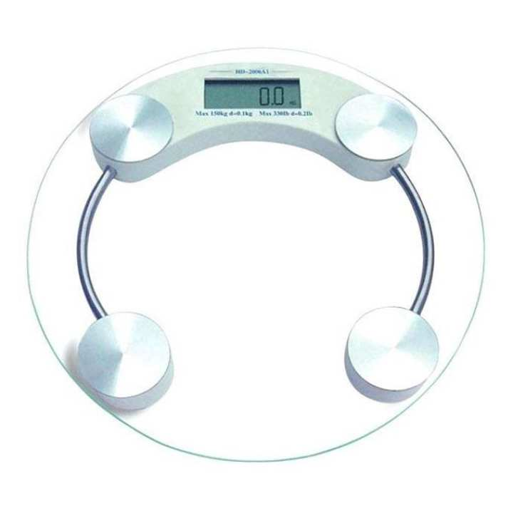 Digital Bathroom Scale - Silver