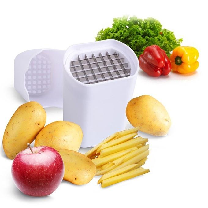 One Step French Fry Cutter - White
