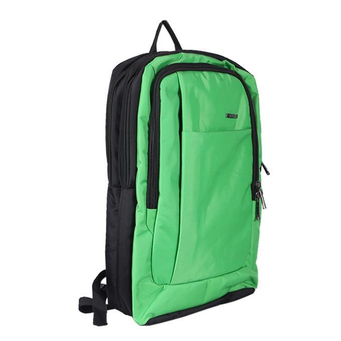 Pale Green Polyester Backpack For Men