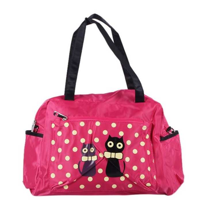 Polyester Hand Bag For Girls - Pink