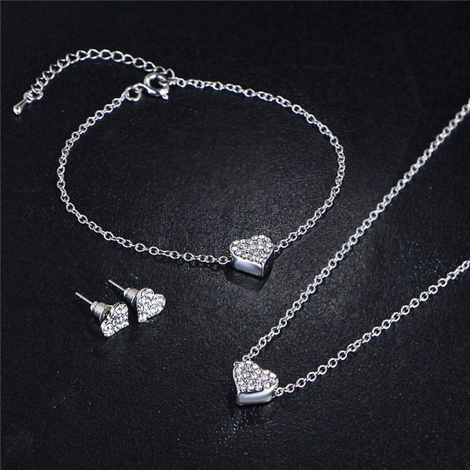Silver Plated Jewellery Set For Women