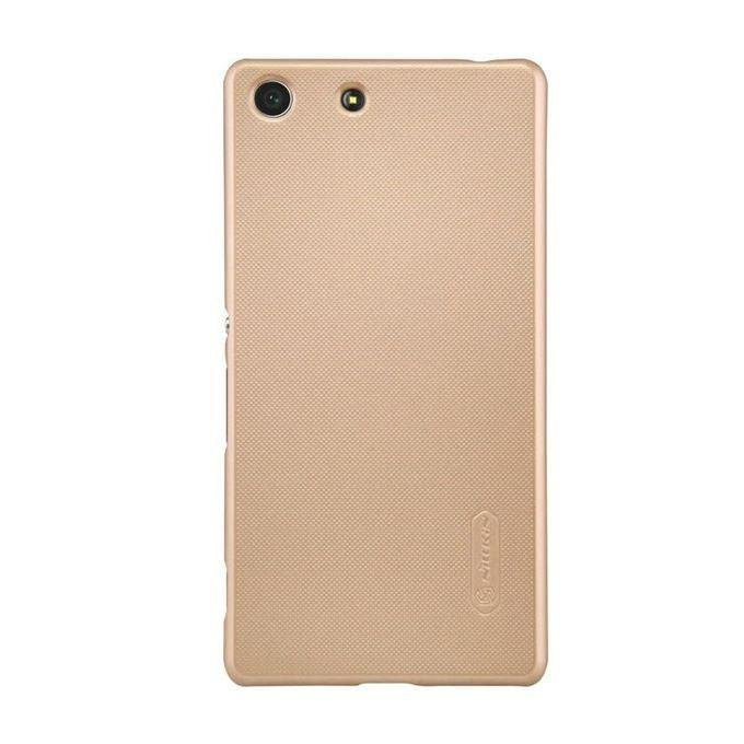 Frosted Shield Back Case for Xperia M5 Super - Golden
